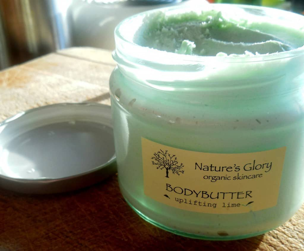 natures glory bodybutter uplifting lime review