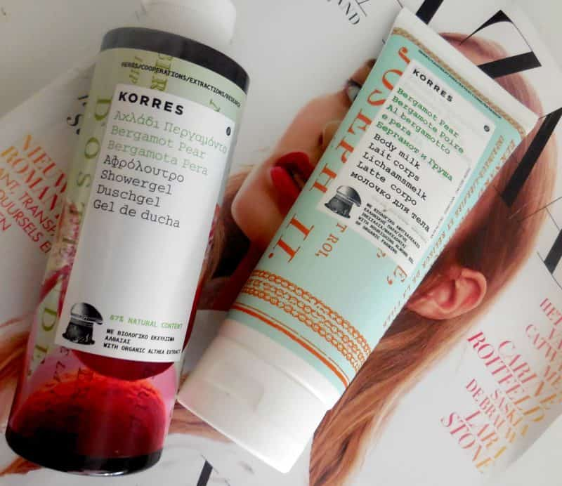 Korres Bergamot Pear Showergel & Bodylotion Review