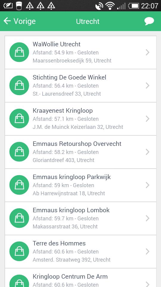 de kringloop app