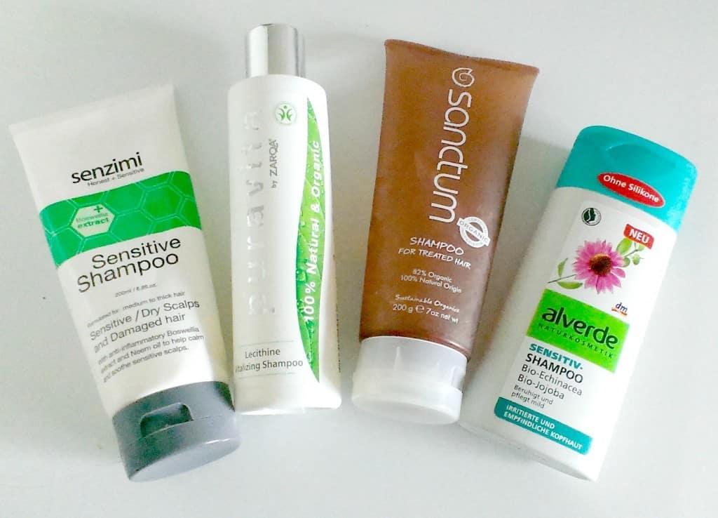 vier natuurlijke shampoos