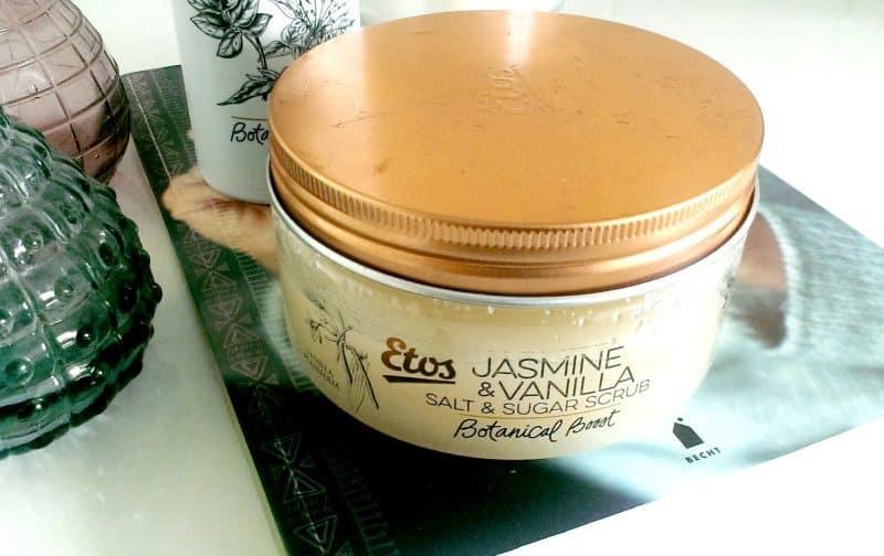 Etos Botanical Boost Jasmine & Vanilla Salt & Sugar Scrub