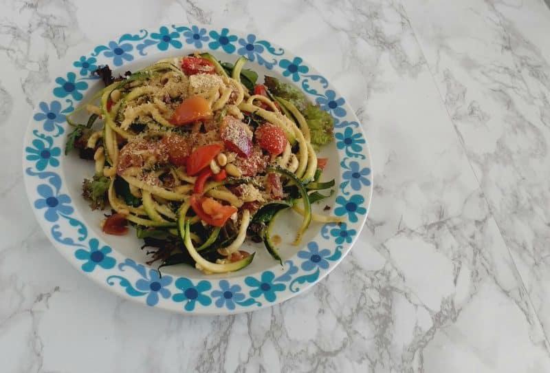vegan courgette pasta glutenvrij