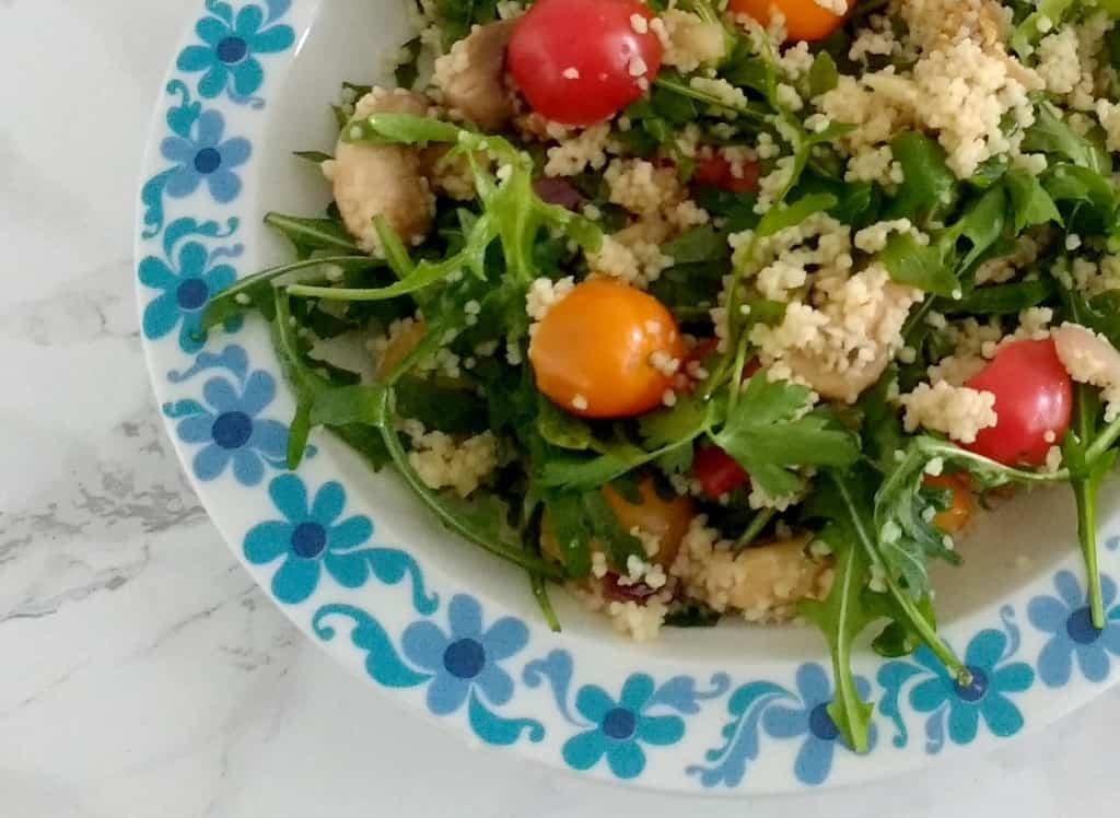 Vegan couscous salade