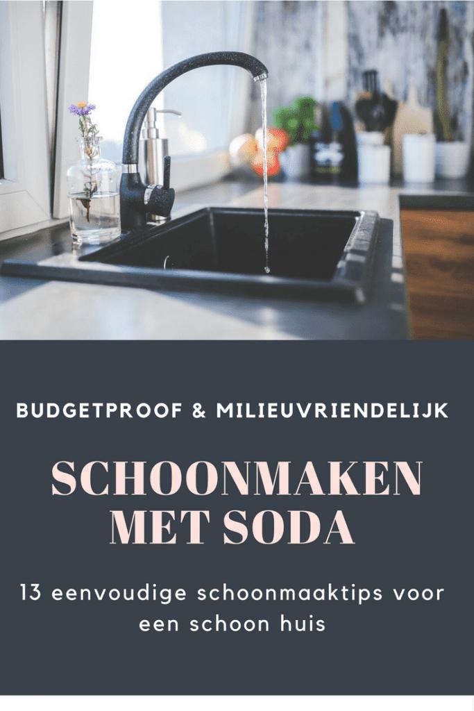 schoonmaken met soda